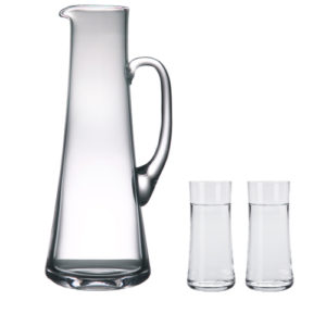 Wasserkrug (1200 ml) und 6 Gläser (210 ml) transparent