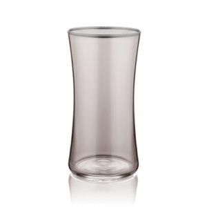 Wasserglas groß rauchgrau mit Platinrand 300 ml 6er Set