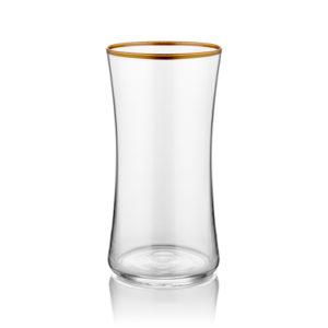 Wasserglas groß transparent mit Goldrand 300 ml 6er Set
