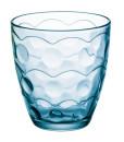 Wasser- und Saftglas türkis-blau 285 ml 6er Set
